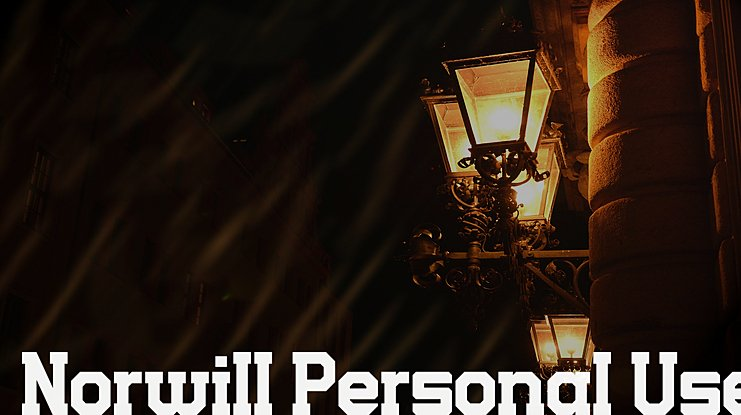 Norwill Personal Use Font