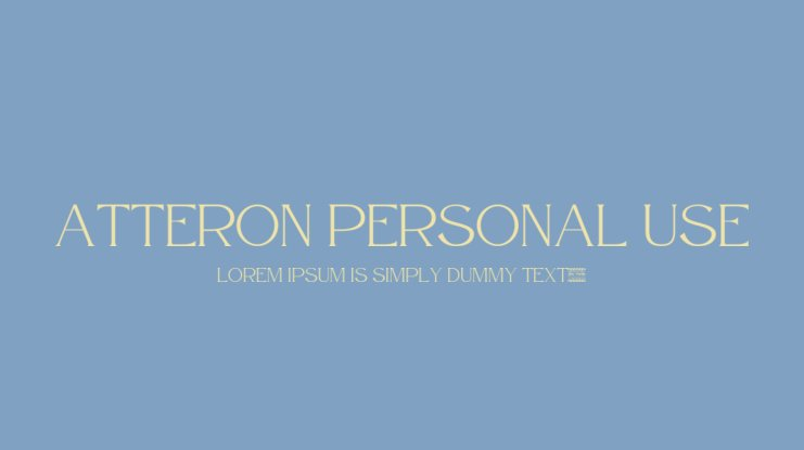 Atteron Personal Use Font