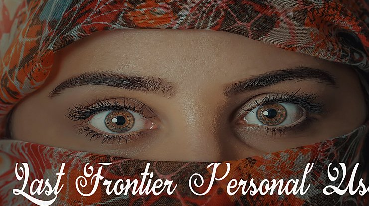 Last Frontier Personal Use Font