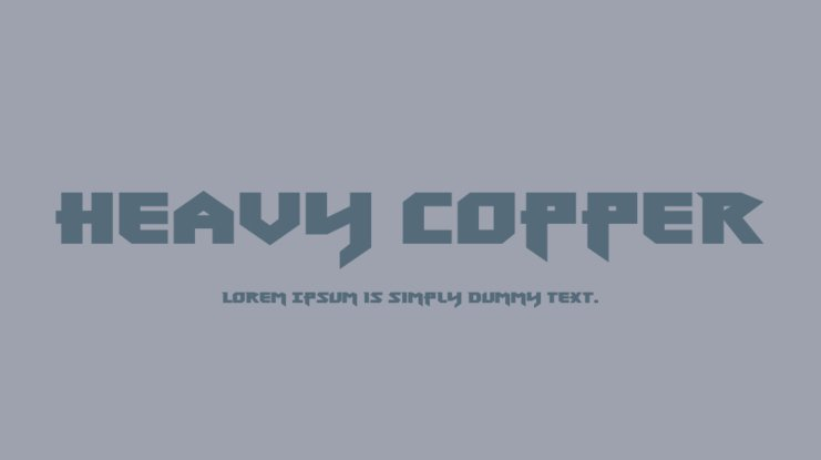 Heavy Copper Font Family