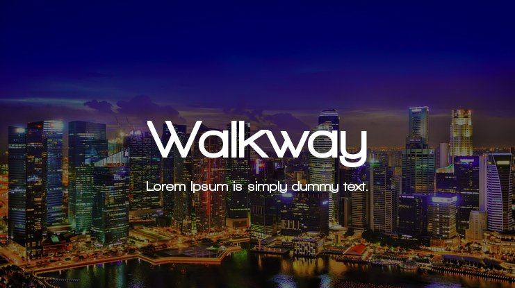 Walkway Font Family