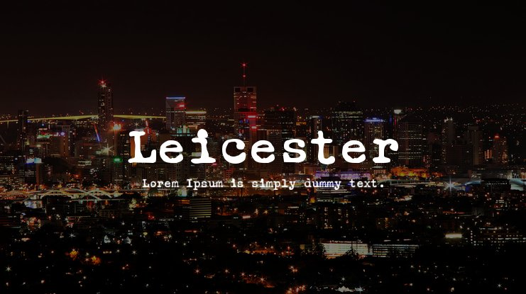 Leicester Font Family