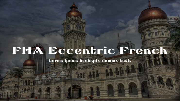 FHA Eccentric French Font Family