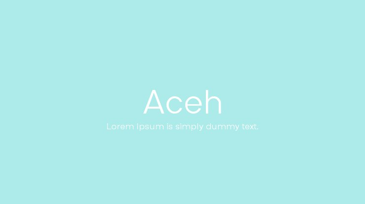 Aceh Font