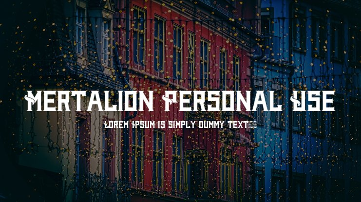 Mertalion Personal Use Font