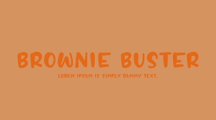 BROWNIE BUSTER Font