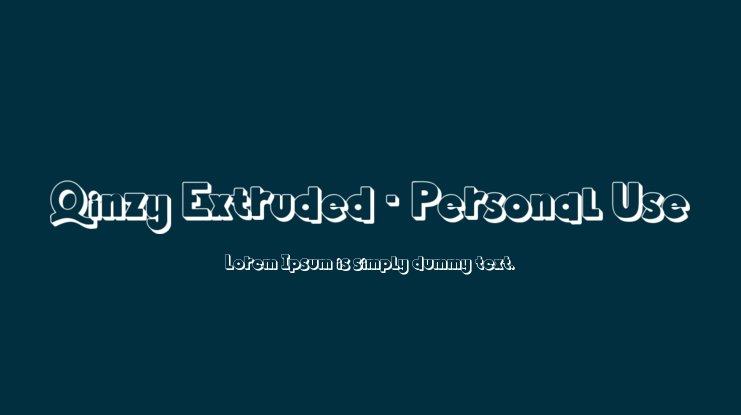 Qinzy Extruded - Personal Use Font Family