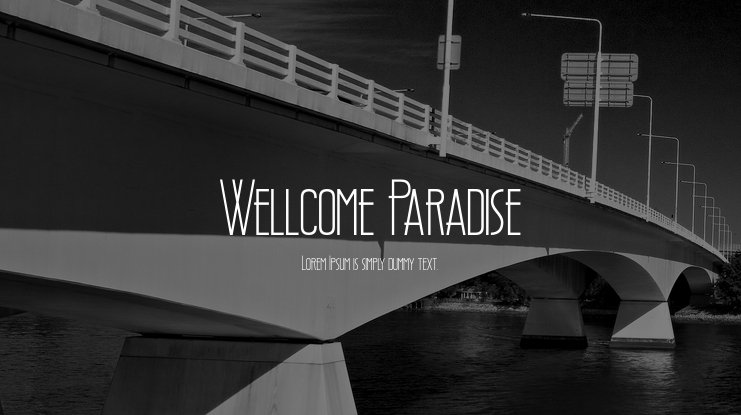 Wellcome Paradise Font Family