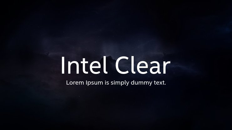 Intel Clear Font Family