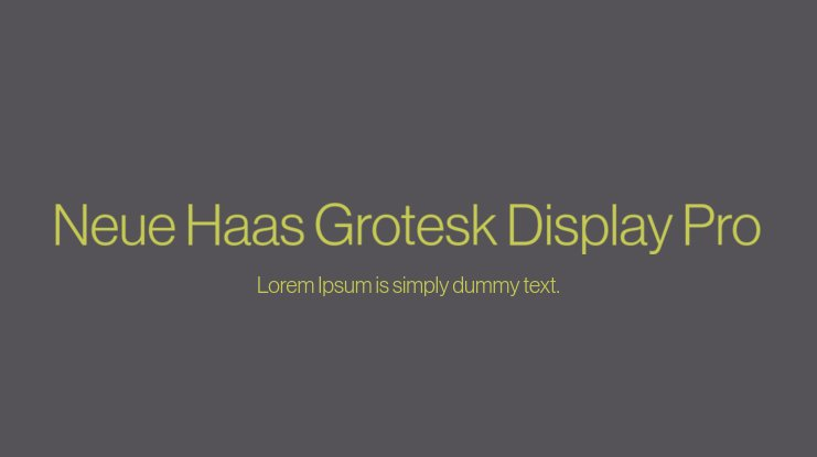 Neue Haas Grotesk Display Pro Font Family