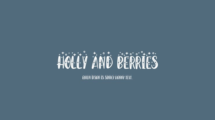 Holly And Berries Font