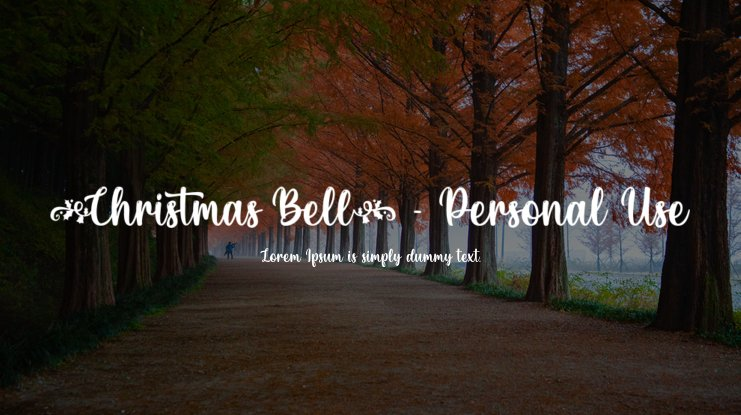 Christmas Bell - Personal Use Font
