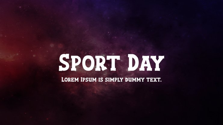 Sport Day Font