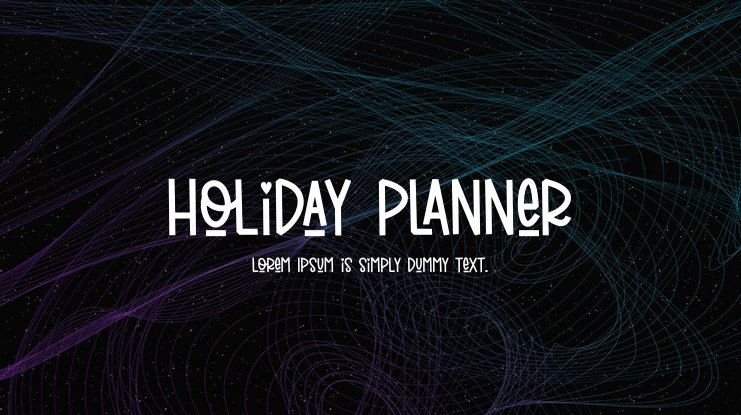 Holiday Planner Font