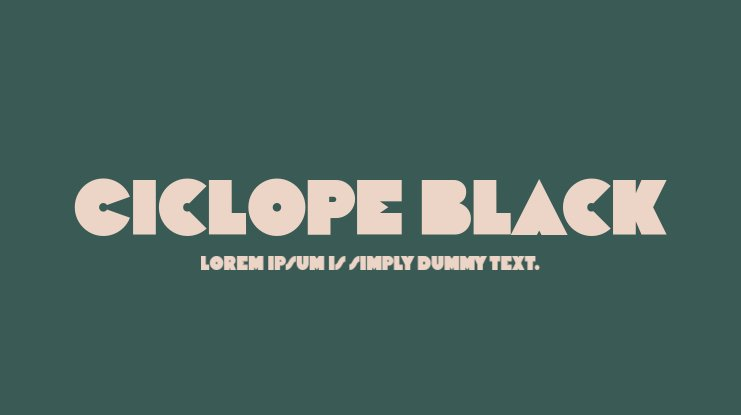 Ciclope Black Font Family