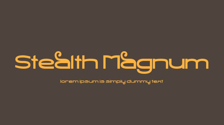 Stealth Magnum Font Download Free Pc Mac And Web Font