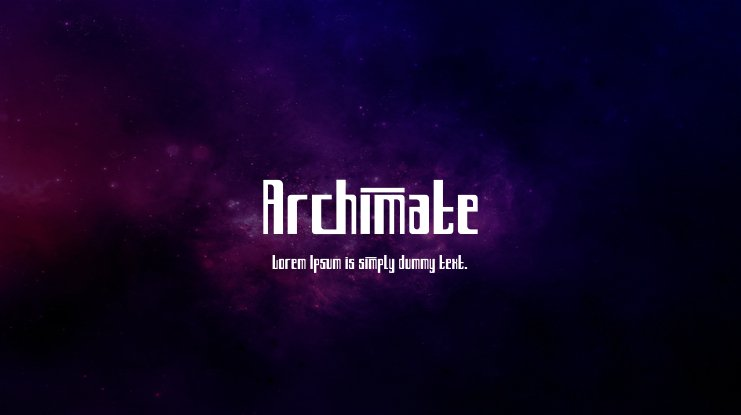 Archimate Font Family