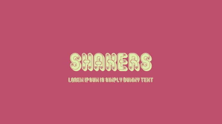 Shakers Font
