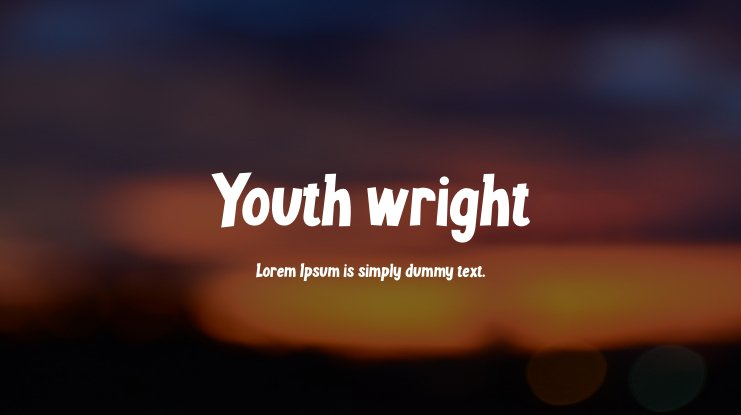 Youth wright Font Family