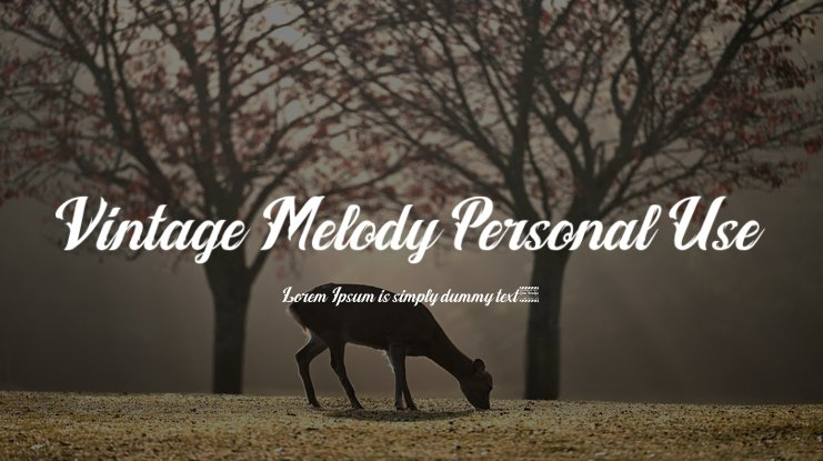 Vintage Melody Personal Use Font