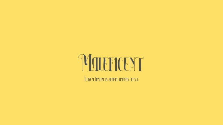 Maleficent Font Family