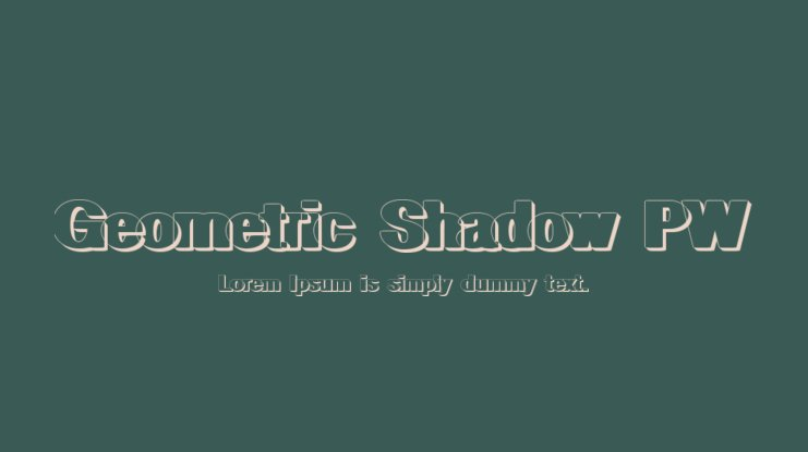 Geometric Shadow PW Font