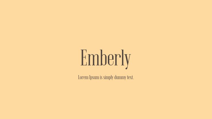 Emberly Font Family