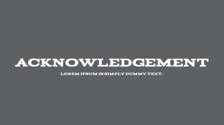 Acknowledgement Font