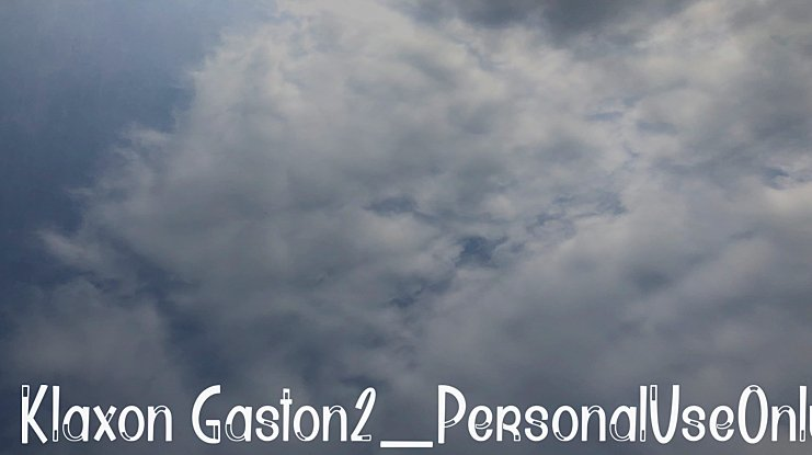 Klaxon Gaston2_PersonalUseOnly Font Family