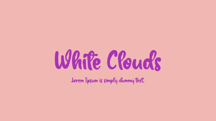 White Clouds Font