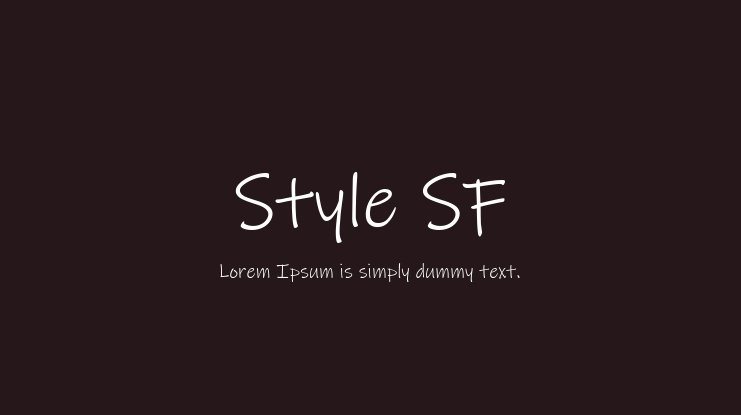 Style SF Font