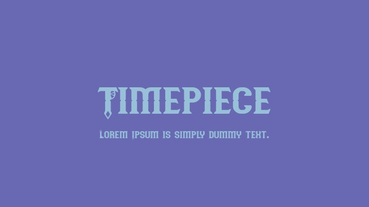 Timepiece Font Family