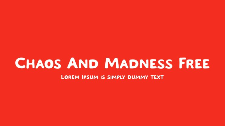 Chaos And Madness Free Font Family