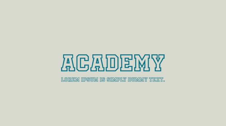 Academy Font Family