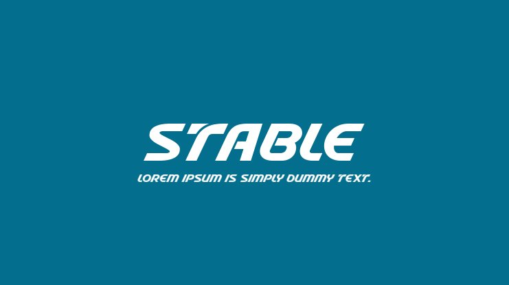 Stable Font Family