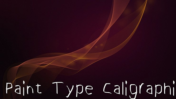 Paint Type Caligraphic Font