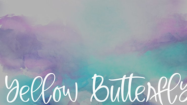 Yellow Butterfly Font
