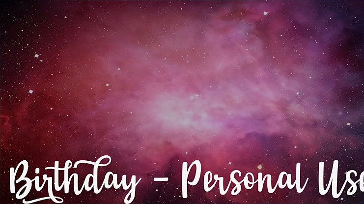 Birthday - Personal Use Font