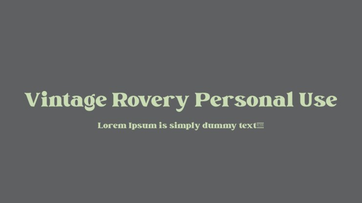 Vintage Rovery Personal Use Font