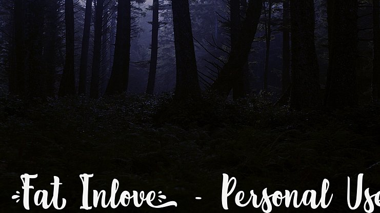 Fat Inlove - Personal Use Font