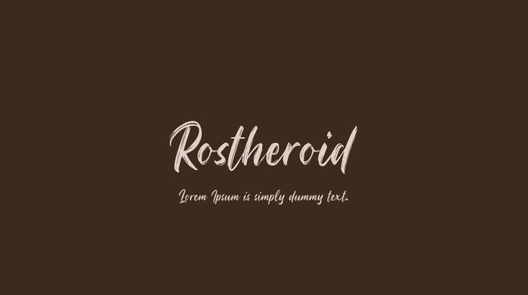 Rostheroid Font Family