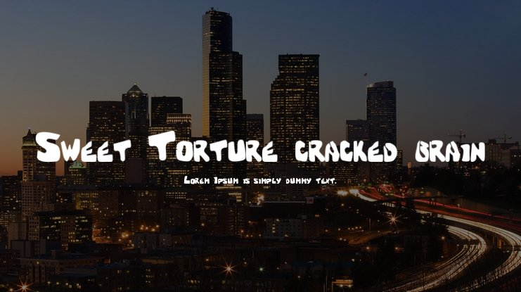 Sweet Torture (cracked brain) Font
