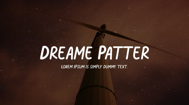 Dreame Patter Font Family
