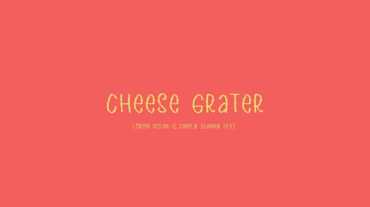 Cheese Grater Font