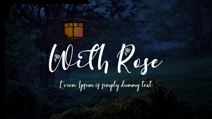 With Rose Font