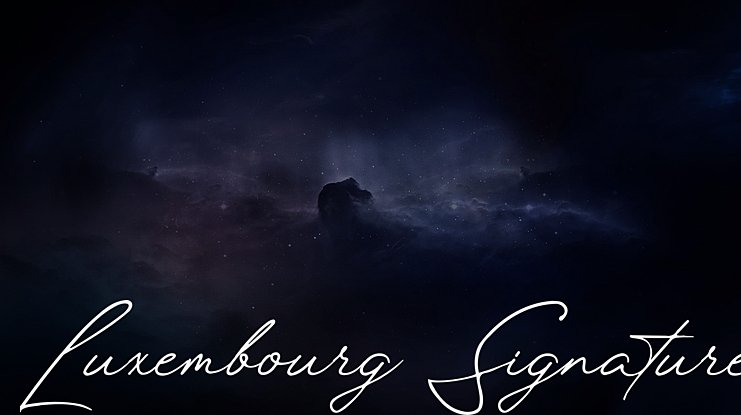 Luxembourg Signature Font