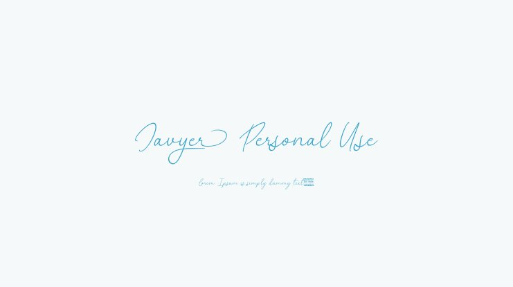 Javyer Personal Use Font