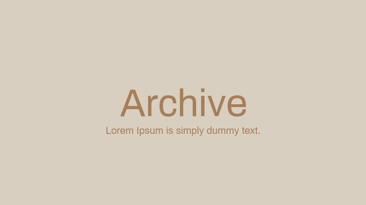 Archive Font Family