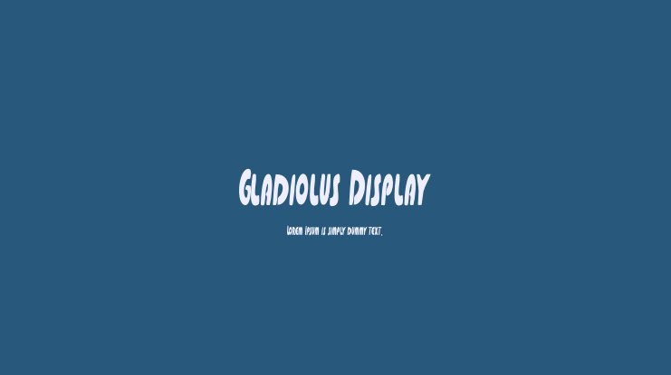 Gladiolus Display Font Family