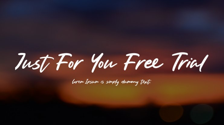 Just For You Free Trial Font